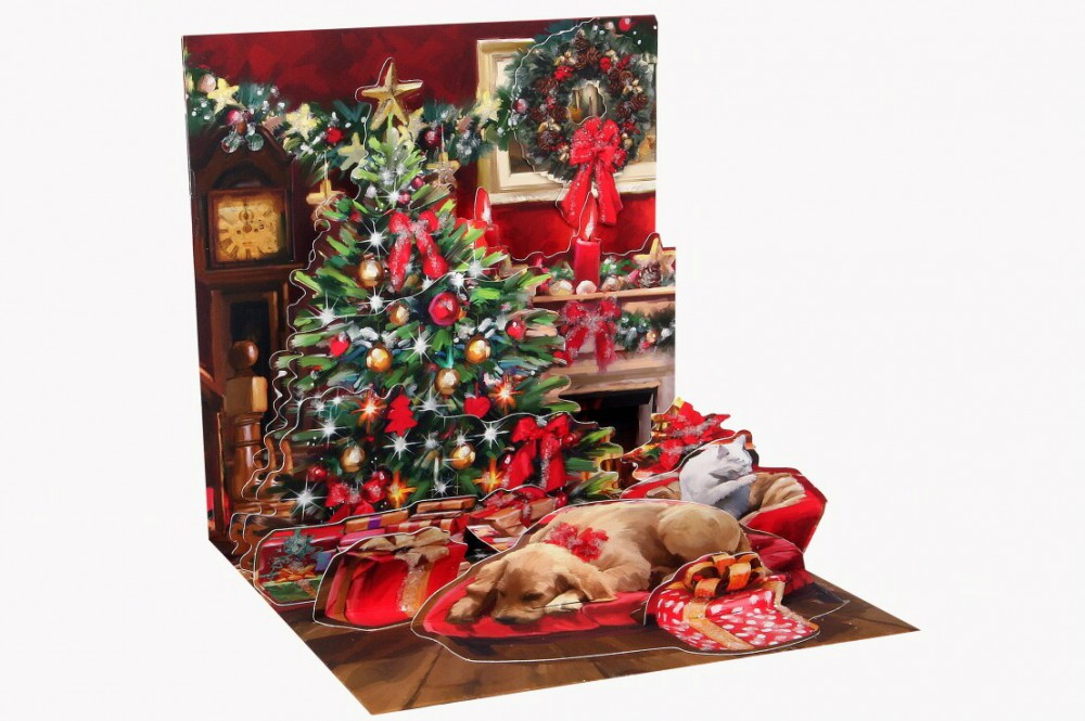 pop up 3d weihnachten karte popshot kamin zauber 13x13 cm 507449. Black Bedroom Furniture Sets. Home Design Ideas