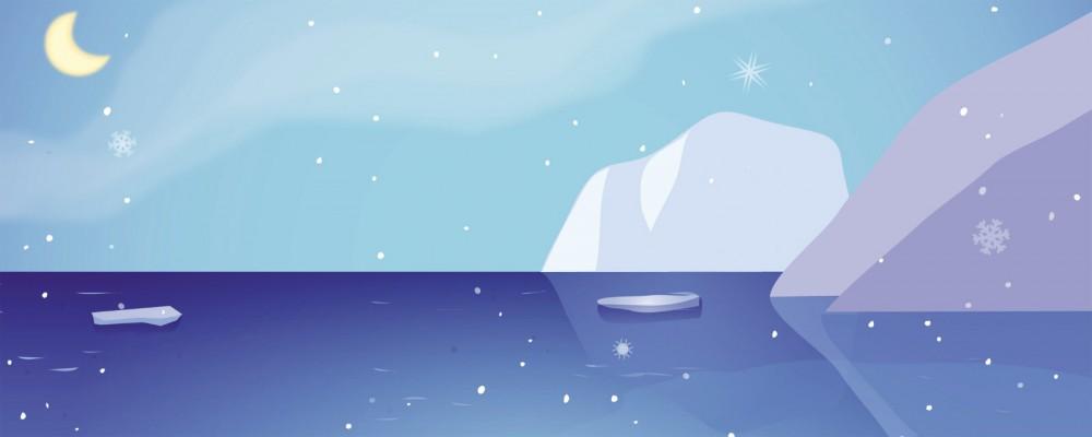 Pop Up 3D Weihnachten Panorama Karte PopShot Weihnachts Eisbären 23x10 cm