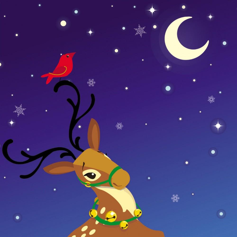 Pop Up 3D Weihnachts Mini Grußkarte PopShot Weihnachtsmann im Schornstein 7,6x7,6cm