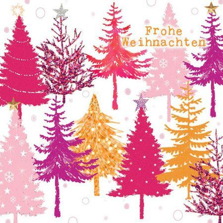 Swarovski elements weihnachten gru karte handmade popshot - Pinker tannenbaum ...