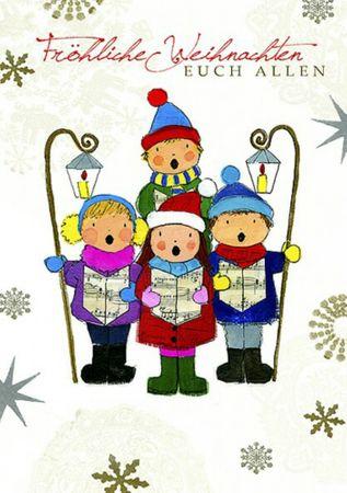 Swarovski Elements Weihnachten Grußkarte Handmade PopShot Sternensinger 17x12cm