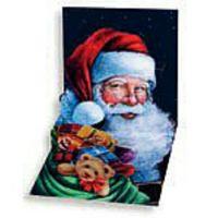 Pop Up 3D Weihnachten Karte PopShot Santa Claus mit roter Mütze 13x13 cm