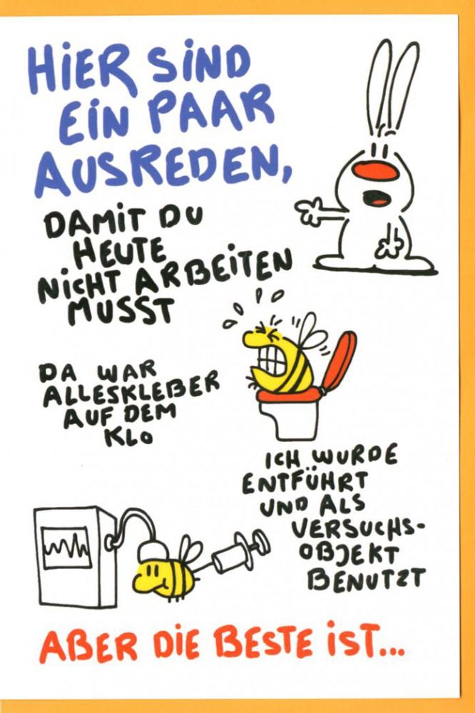 Grußkarte Humor Geburtstagskarte Nic Show Hier sind ein paar ...