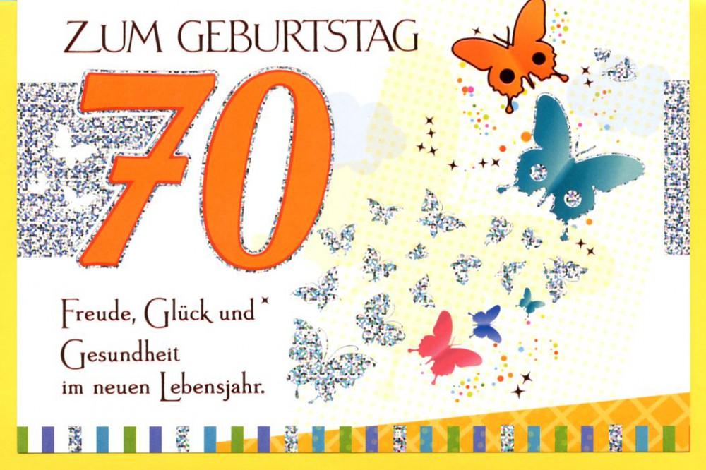 Grußkarte Geburtstagskarte 70 Zum Geburtstag 70 Freude, Glück und Gesundheit Schmetterling C6 507692