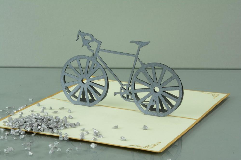 3 d pop up gru karte geburtstag geldgeschenk handmade fahrrad 17x10cm 507733. Black Bedroom Furniture Sets. Home Design Ideas