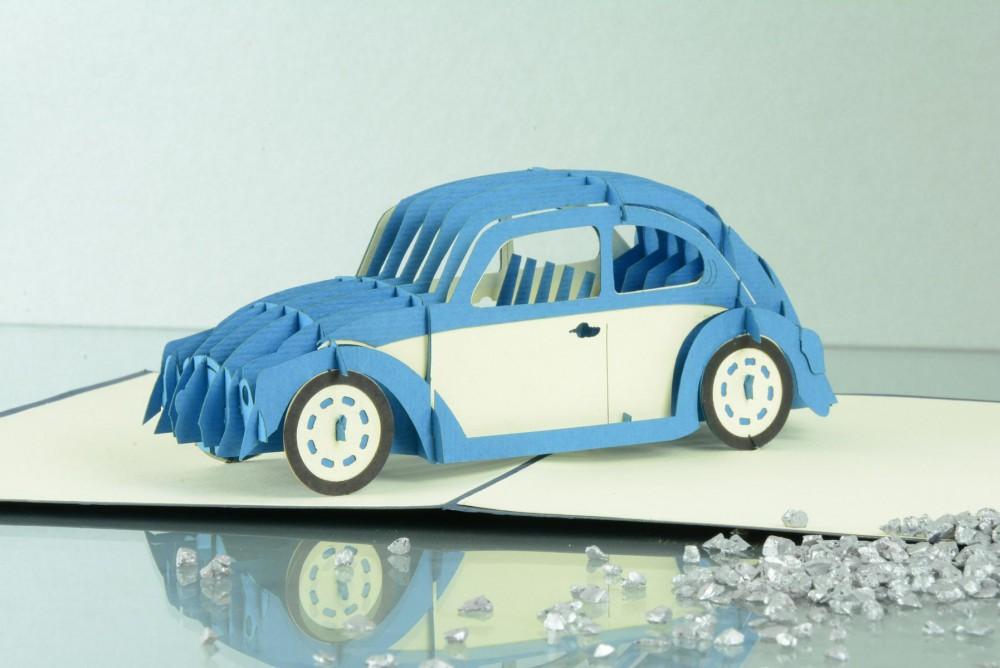 Auto 3 D Pop Up Grusskarte Geburtstag Herbie Der Buggie Geldgeschenk
