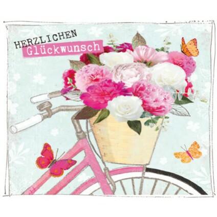 Grusskarte Geburtstag Swarovski Elements Popshot Gluckwunsch Fahrrad