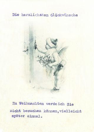 Postkarte Heide Weihnachten Sammler Nostalgie Zu Weihnachten werde ich Sie nicht besuchen können C6