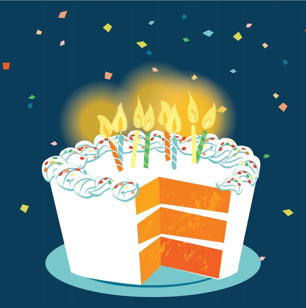 Pop Up 3D Geburtstag Grußkarte PopShot Happy Birthday Torte 13x13cm