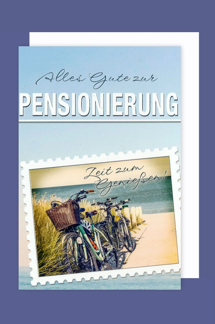 Karte Ruhestand.Ruhestand Karte Grußkarte Pensionierung Fahrradtour 16x11cm Avancarte