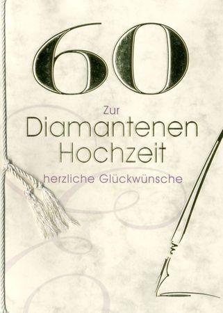 Diamanthochzeit 60 Urkunde Grußkarte 8 Seiten herzliche Glückwünsche A5