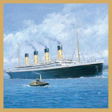 Titanic Grußkarte Geburtstag Tracks Ohne Text Einladung Gutschein Kreuzfahrt 16x16cm