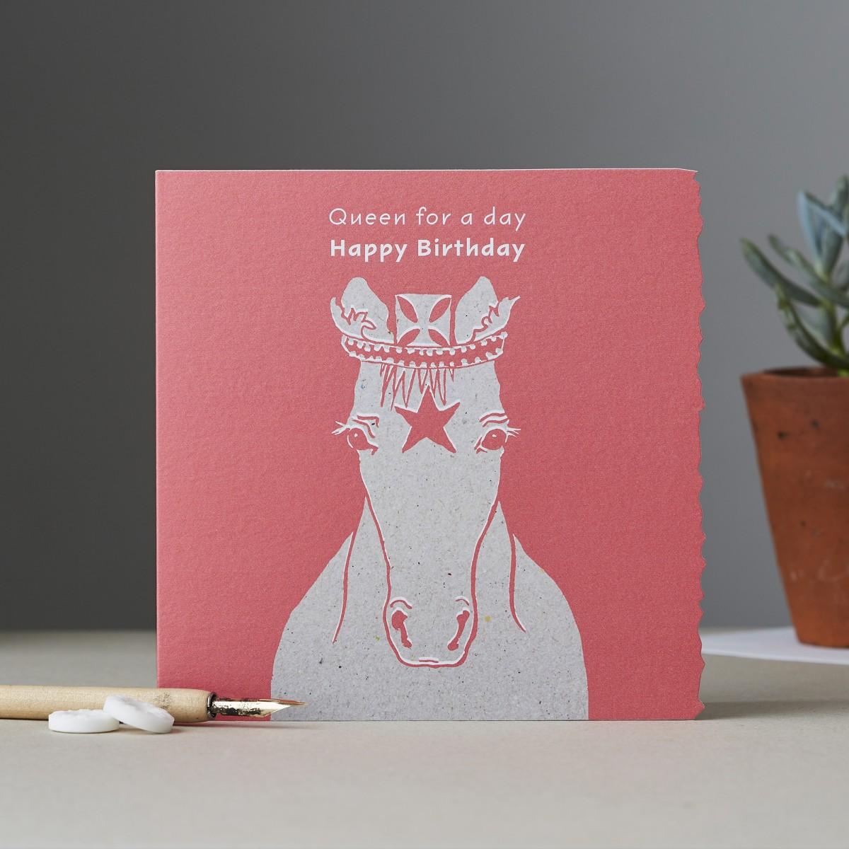 Pferde Karte Madchen Geburtstag Grusskarte Kinder Liebhaber Reiten