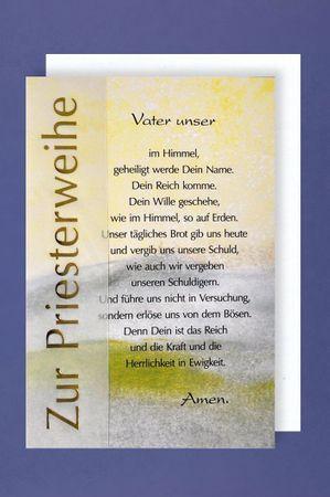 Priesterweihe Grußkarte Zur Priesterweihe Das Vater unser  16x11 cm