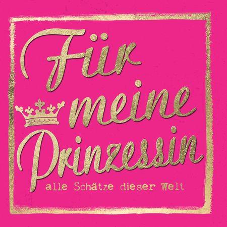 Grußkarte Geburtstag Swarovski Elements PopShot Schätze Prinzessin 8x8cm