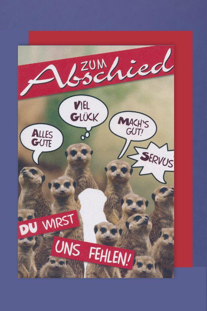 Firmen Abschied Karte Grußkarte Humor Kollegen 16x11cm Con Trade
