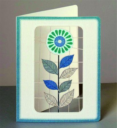 Natur Laser Cut Karte 3D Grußkarte Blume Pflanze 14x11cm