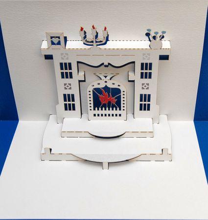 Pop Up 3D Karte Geburtstag Kamin Zimmer Einladung Treffen 16x11cm