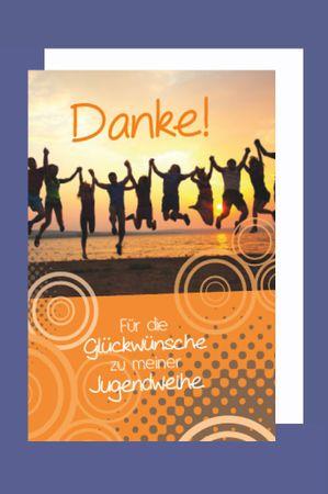 Jugendweihe Danksagung Karte 5er Set Tanz der Träume B6