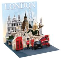 Pop Up 3D London PopShot Städtekarte Geburtstag Grußkarte Tourist Highlights 13x13cm