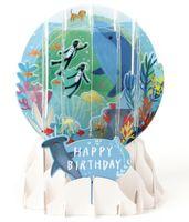 Schneekugel Karte Geburtstag Grußkarte PopShot Unterwasserwelt 9x13cm
