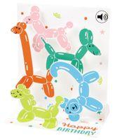 SOUND Pop Up 3D Karte Geburtstag Musik Modellieren Ballons 18x13cm