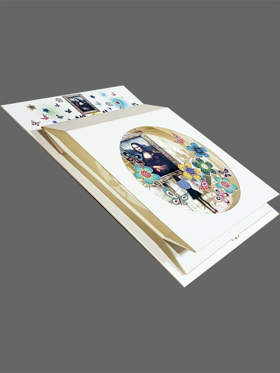 Pop Up 3 Ebenen 3D Laser Karte Geburtstag Hand gesteckt Märchenwald 17x13cm