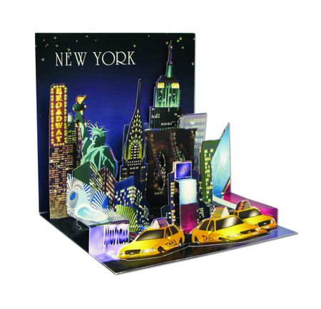 1119 Treasure Karte New York Städtekarte Tourist Highlights 13x13cm