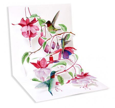 1216 Treasure Karte Geburtstag Muttertag Danke Kolibris 13x13cm