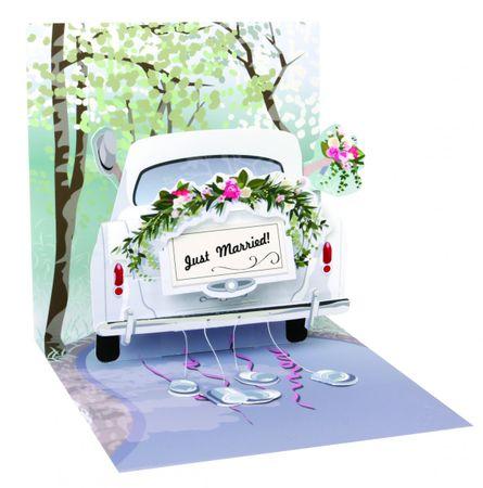 1239 Treasure Karte Hochzeit Honeymoon Auto 13x13cm