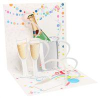 1202 Treasure Karte Hochzeit Geburtstag Sekt Feiern 13x13cm