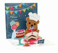 1085 Treasure Karte Geburtstag Kinder Grußkarte Teddy Bäckerei 13x13cm