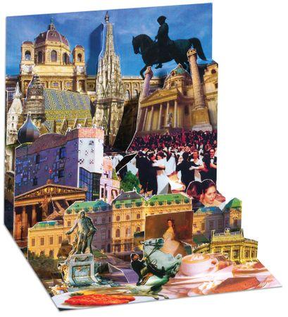 Pop Up 3D Wien PopShot Städtekarte Geburtstag Grußkarte Tourist 13x13cm