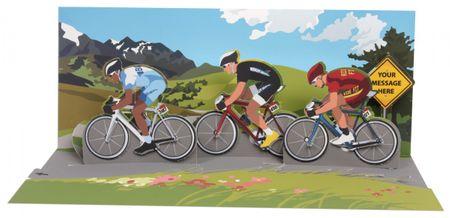 A268 Panorama Karte Geburtstag Fahrrad Rennen 10x23 cm
