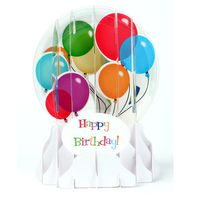 EG012 Schneekugelkarte Happy Birthday Ballons 9x13cm