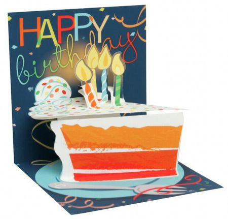 TR267 Mini Karte Geburtstag Happy Birthday Torte 7,6x7,6cm