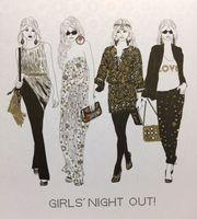 AGG1 Swarovski Elements Square Karte Handmade Party Girls 16x16cm