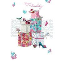 8FAB155 Swarovski Elements Maxi Karte Handmade Happy Birthday Geschenke 21x16cm
