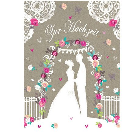 8LAC004 Swarovski Elements Maxi Karte Handmade Zur Hochzeit Brautpaar 21x16cm