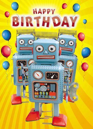 6H261 Gogglies Midi Karte Happy Birthday Spielautomaten 12x17cm