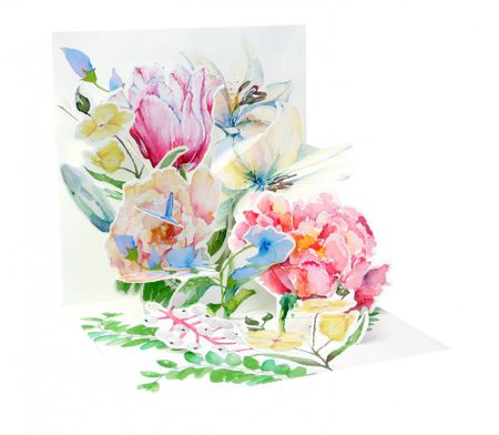 Musterkarte 1126S Treasure Aquarell Bouquet 13x13cm
