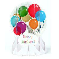 Musterkarte EG012S Schneekugelkarte Muster Geburtstag Happy Birthday Ballons 9x13cm
