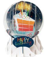 Musterkarte EG048S Schneekugelkarte Muster Karte Geburtstag Grußkarte Kuchen 9x13cm