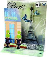 Musterkarte SS034S Sight´n Sound Karte Muster Hochzeit Geburtstag Paris Romantik Liebe 18x13cm