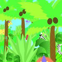 Musterkarte TR143S Mini Karte Muster Geburtstag Kinder Happy Birthday Dschungel 7,6x7,6cm