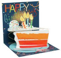 Musterkarte TR267S Mini Karte Muster Geburtstag Happy Birthday Torte 7,6x7,6cm