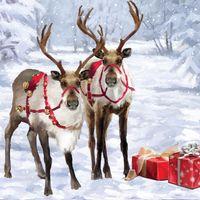 TR260S Mini Musterkarte Santa Claus Rentiere 7,6x7,6cm