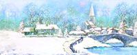 A255S Panorama Musterkarte Winter Idylle 23x10 cm