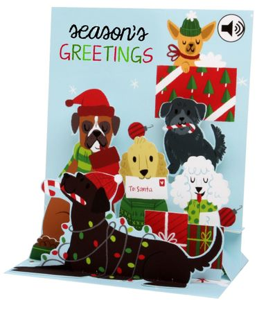 Display Card for SS070 Jingle Bell Dogs