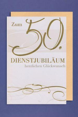Dienstjubiläum 50 Jahre Grußkarte Geschäfts Karte Glückwunsch 16x11cm